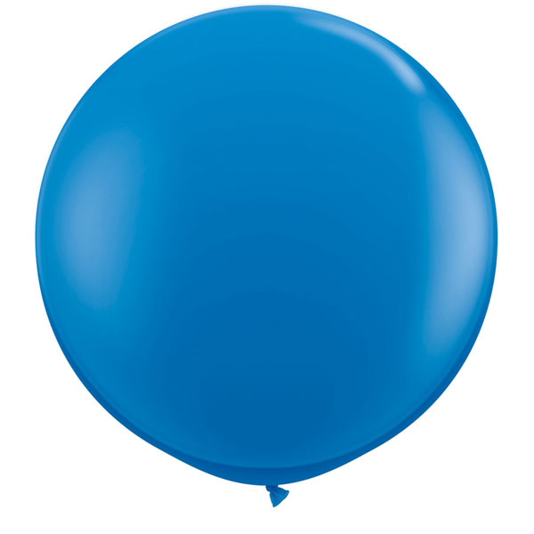 Round Dark Blue Balloon 36