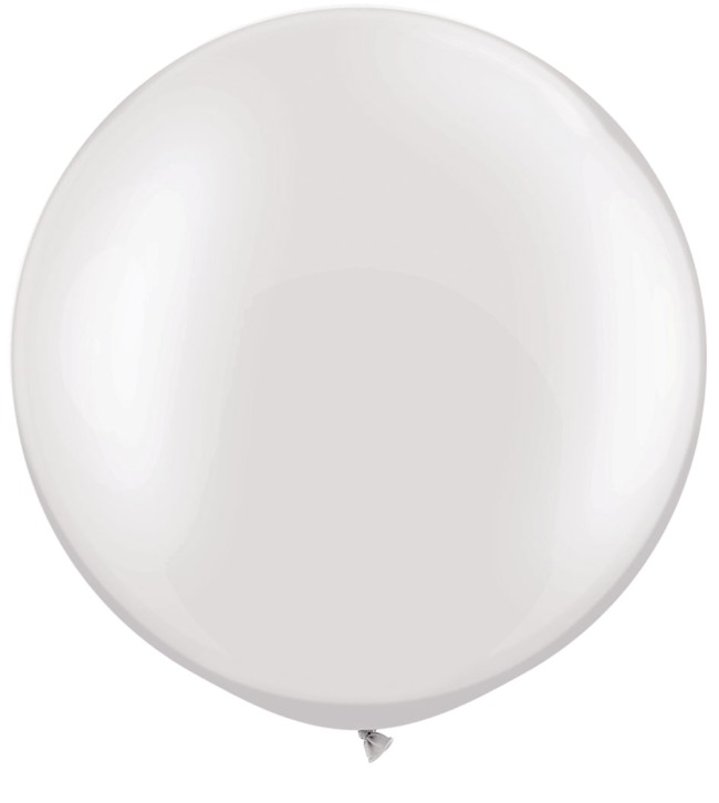 Round White Balloon 36