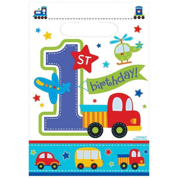 All Aboard 1st Birthday Loot Bag