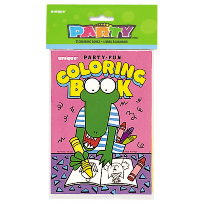 8 Party Colouring Books