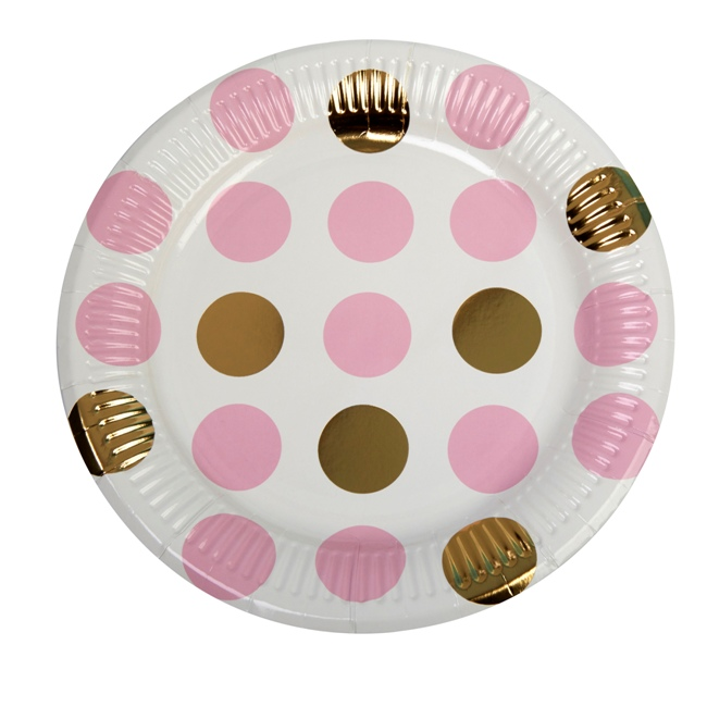 Party Plate Pink Dots
