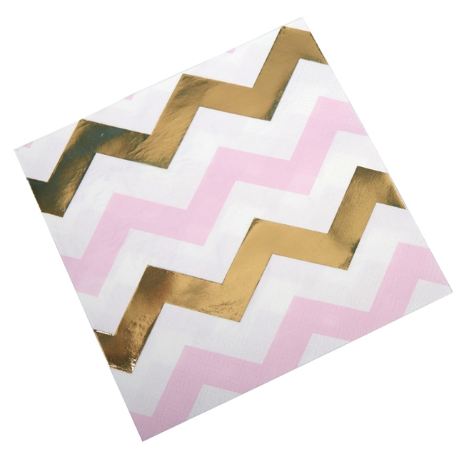 Party Napkin Pink Chevron