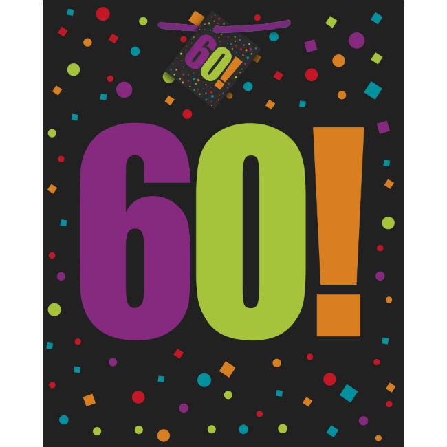 60th Birthday Cheer Gift Bag