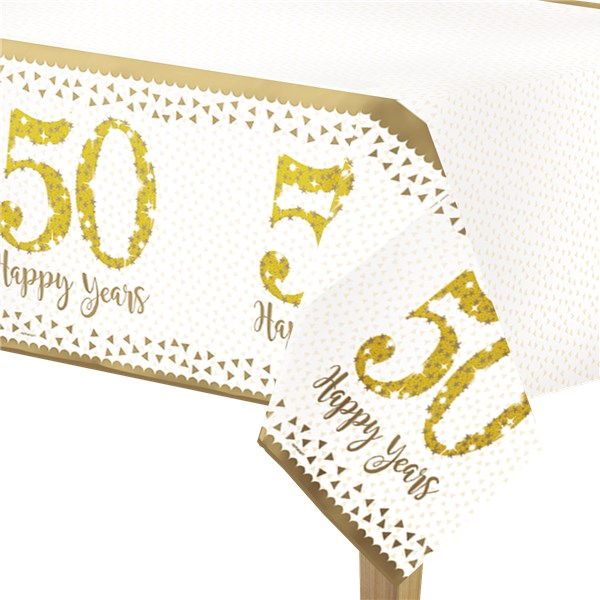 Party Camel 50th Gold Wedding Anniversary Tablecover