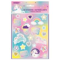 4 Unicorn Party Sticker Sheet