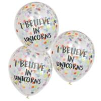 I Believe In Unicorns Confetti Balloons