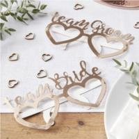 Rose Gold Foiled Fun Glasses