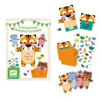 Wild Animals Invitation Cards