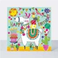 Jigsaw Card - Happy Birthday Llama