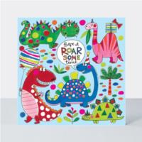 Jigsaw Card - Roar-some Time Dinosaur