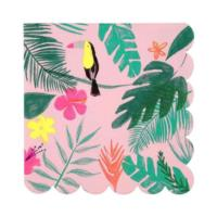 Pink Tropical Large Napkins