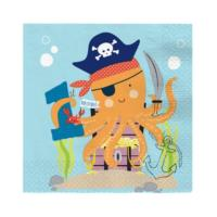 Ahoy 1st Birthday Napkins
