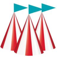 Circus Carnival Cone Party Hats