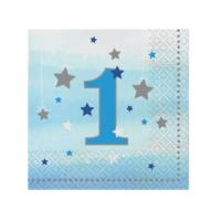 One Little Star Boy 1st Birthday Large Napkins