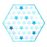 Little Star Blue - Large Paper Plates