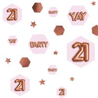 Glitz & Glamour Pink & Rose Gold Confetti Scatter - Age 21