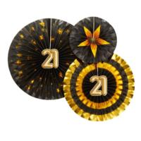 Glitz & Glamour Pinwheels - Black & Gold - 21st Birthday