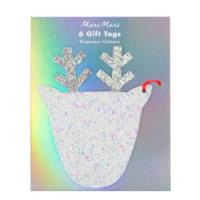 Large Glitter Reindeer Tags