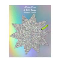 Large Glitter Star Tags