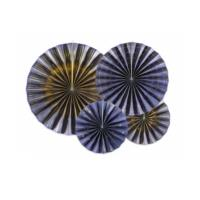 Decorative Rosettes Navy Blue