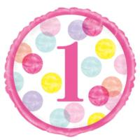 Pink Dots Foil Balloon