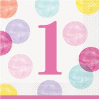 Pink Dots Luncheon Napkins