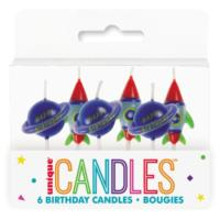 Outer Space Pick Birthday Candles