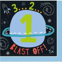Outer Space Beverage Napkins 1St Birthday