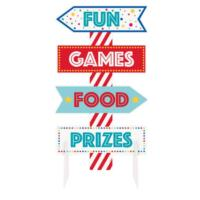 Circus Carnival Sign Centerpiece Decoration