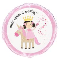 Pink Princess And Unicorn Foil Balloon