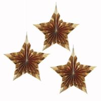 Gold Metallic Star Shaped Hanging Fan Decoration