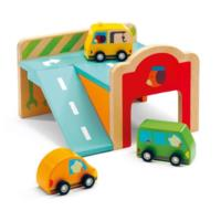 Wooden Mini Garage Toy