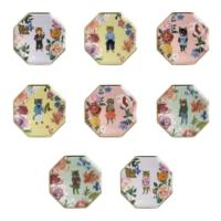 Nathalie Lete Flora Cat Side Plates