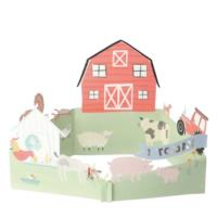 On the Farm 3D Scene Card