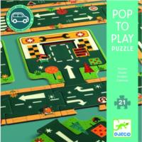 Pop to Play - Road Floor Puzzle - 21pcs