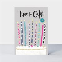 Time for Cake Candles Card