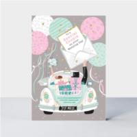 Wedding Car & Balloons  Card