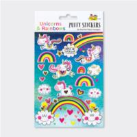 Puffy Stickers - Unicorns & Rainbows