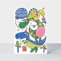 Raw-some Birthday dinosaurs  Card