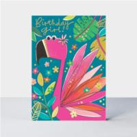 Birthday Girl Flamingo Card