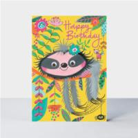 Happy Birthday Sloth card