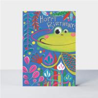 Hoppy Birthday frog card