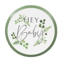 Hey Baby Botanical Paper Plate