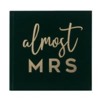 Green Velvet Gold Foiled Guest Book