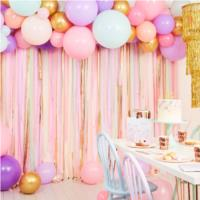 Pastel Streamer and Balloon Backdrop