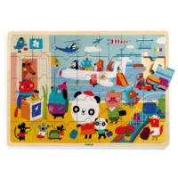 Puzzlo Airport Wooden Tray Puzzle