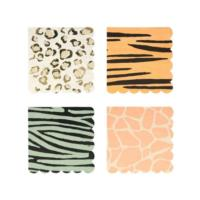 Safari Animal Print Large Napkins