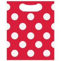 Ruby Red Polka Party Loot Bags