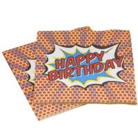 Pop Art Party - Happy Birthday Napkins