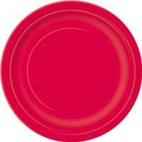Ruby Red Round Plate 7